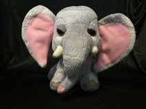 """Elephant Jungle Snubbies Gray Pink 9"""" Toy Network Plush Stuffed Animal in Glendale Heights, Illinois"""