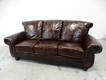 Leather Look 3 Seater Sofa in Alvin, Texas