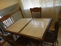 Tile Top Table w/4 Chairs in Fort Carson, Colorado