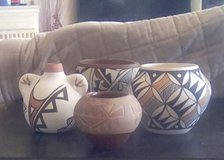 4 Native American Pots in Ruidoso, New Mexico