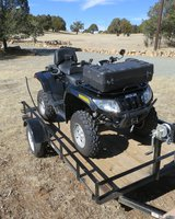 2010 550 Artic Cat H1 EFI With 2015 5X10 Carr Trlr in Ruidoso, New Mexico