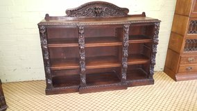 Carved Oak Bookcase deep fully adjustable shelves free delivery others available in Lakenheath, UK