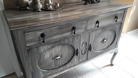 Rustic Grey Antique Buffet in Baytown, Texas