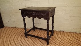 Green Man Carved Oak Table with drawer others available free delivery in Lakenheath, UK