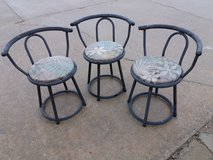 3 swivel chairs in Fort Riley, Kansas