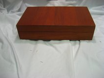 Vintage Antique Wood Bar Ware Storage Box Hinge Wine Corkscrew Ice Martini in Kingwood, Texas