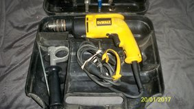 Dewalt 1/2 in corded Model DW 511 Hammer Drill w/ Bits and case in Vacaville, California
