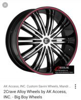 """24"""" RIMS (2 Crave) with tires in Watertown, New York"""