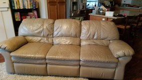 Tan Leather Couch And Love seat in Vista, California