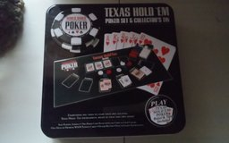 Texas Hold 'em Poker Set & Collectors Tin (NIB) in Conroe, Texas