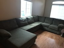 Dark Green Sectional Couch in Oceanside, California