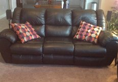 Black leather couches & matching recliner in Vacaville, California