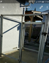Steel cage frame in Vacaville, California