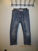 Boys Levis 514 Slim Cut Straight Leg Light Blue with Silver Sheen Jeans Size 16R (28X28) in Bolingbrook, Illinois