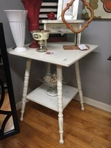 Distressed White Accent Table in Naperville, Illinois