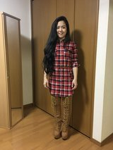 Tee Dress & Thigh Boots in Okinawa, Japan