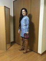 Tee Dress/Thigh Boots & Clutch in Okinawa, Japan