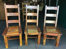 3 solid Heavy robust Wood chairs in Ramstein, Germany