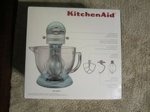 KITCHENAID ksm155gbaz 5 QUART BLUE AZURE NIB NEW STAND MIXER ARTISAN in DeKalb, Illinois