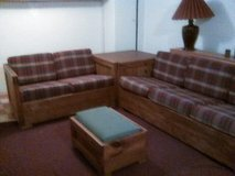 Sofa, Loveseat & Ottoman ('This End Up') in Cleveland, Ohio