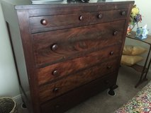 Large mahogany dresser in DeKalb, Illinois