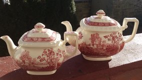 Red Villeroy and Boch coffee tea pot set in Ramstein, Germany