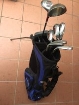 Golf clubs and TaylorMade bag. in Okinawa, Japan