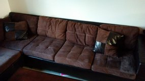 BROWN SECTIONAL L COUCH [MOVING SALE] in Oceanside, California
