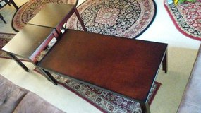 3 wood brown tables. Large and two small [MOVING SALE] in Camp Pendleton, California