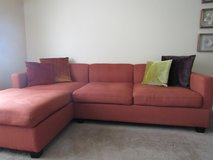 Sectional with Free Throw Pillows in Oceanside, California