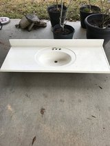 Cultured marble sink/counter top in Houston, Texas