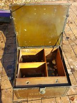 "Antique Machinist's Box Army Green 20"" x 20"" x 10"" with compartments / drawer in Chicago, Illinois"