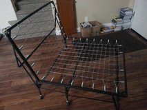 Foldable Metal Bed Frame 6ftx4ft w/ wheels - $50 in Vacaville, California