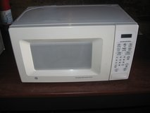 White Compact GE Turntable Microwave Oven in Morris, Illinois
