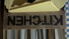 reclaimed wood kitchen sign in Fort Belvoir, Virginia