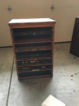 Antique 1940's Letter Press Cabinet in Fairfield, California