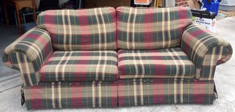 Plaid Couch in Camp Lejeune, North Carolina
