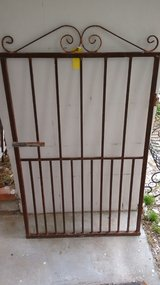 Wrought Iron single gate  34W x 55H, may be see at Bay ST Treasures, Beaufort, SC in Beaufort, South Carolina