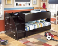 Children's bunk bed with staircase in Fort Belvoir, Virginia