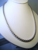 """Unisex Sterling Silver 925 20"""" 4mm Box Chain 46 Grams in Camp Lejeune, North Carolina"""