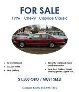 1996 Chevy Caprice Classic in bookoo, US