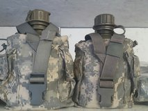 canteens with pouches in Fort Polk, Louisiana