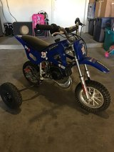 Kids 50cc dirtbike with training wheels in Fort Irwin, California