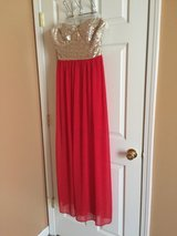 Red/w Gold top -- long dress in Fort Campbell, Kentucky