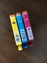 HP 920 Cyan-Magenta-Yellow Ink Cartridges (BRAND NEW) in Glendale Heights, Illinois