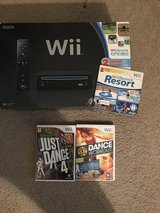 Wii with games and 2 controllers in Fort Irwin, California