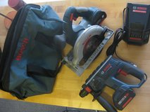 BOSCH 18V Cordless Circular Saw and Rotary Hammer Drill with Charger and 2 Batteries! in Camp Pendleton, California