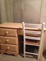 Twin canopy bed set w/desk and dresser in Aurora, Illinois