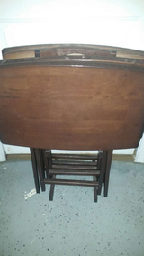 Tv dinner table set with stand in Camp Lejeune, North Carolina