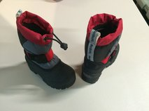 Snow boots in Fort Drum, New York